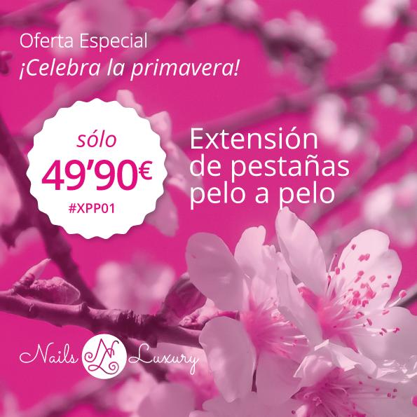 Extensión de pestañas pelo a pelo por sólo 49,90€ oferta primavera!